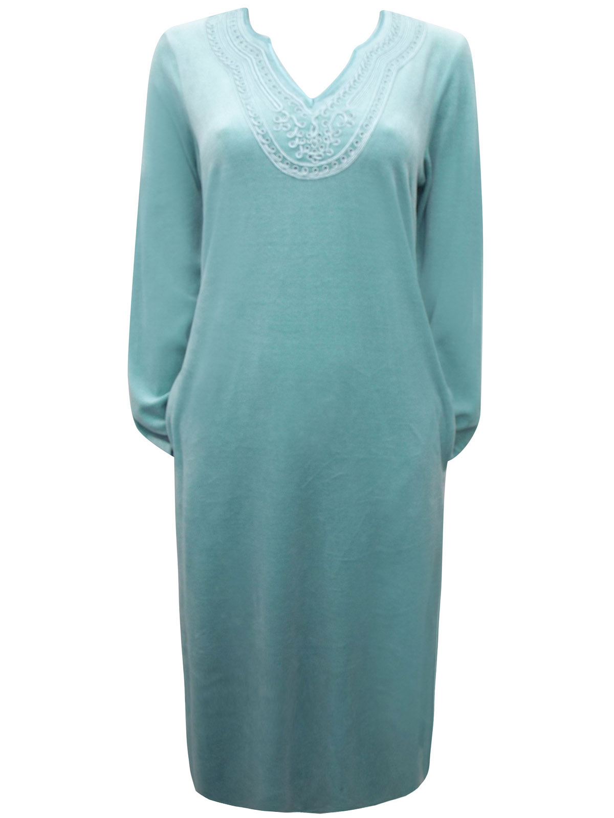 BHS - - BH5 MINT Celtic Appliqué Velour Nightdress - Size 8/10 to 20/22