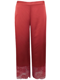 AS0S RUST Full Length Lace Panel Pyjama Bottoms - Size XSmall to Large