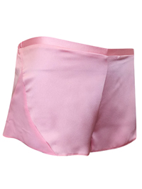 IRREGULAR - AS0S PINK Chiffon Panelled Satin Pyjama Shorts - Size 6 to 18