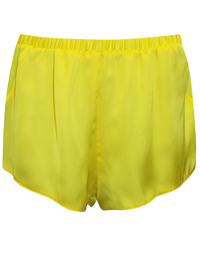 IRREGULAR - ASOS LEMON Chiffon Panelled Satin Pyjama Shorts - Size XSmall to Medium