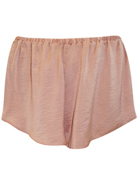 IRREGULAR - ASOS COPPER Crinkle Satin Pyjama Shorts - Plus Size 18 to 28