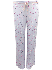 M&5 LILAC Floral Print Pyjama Bottoms - Size 10 to 22
