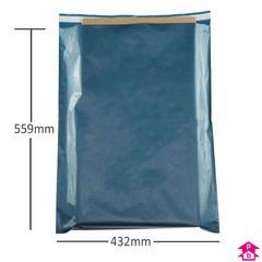 100 blue Mailing Bags  Postal Bags  432 x 559 + 40mm