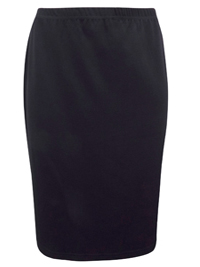Marletta BLACK Pull On Jersey Pencil Skirt - Plus Size 22/24 to 30/32