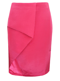 VLabel PINK Beverly Asymmetric Wrap Mini Skirt - Size 4 to 12
