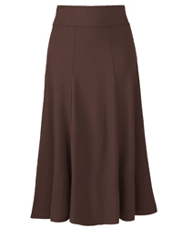 Being Casual CHOCOLATE Panelled Jersey Skirt - Size 12 (Length 32in)