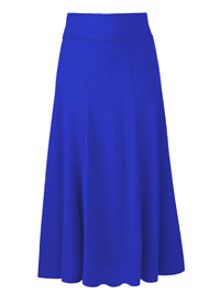 Being Casual BRIGHT-BLUE Panelled Jersey Skirt - Size 12 to 16 (Length 32in)