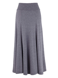 Marisota CHARCOAL Panelled Jersey Skirt - Size 12 to 18 (Length 32in)
