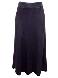 First Avenue BLACK Pull On A-Line Panelled Skirt - Size 12 to 16