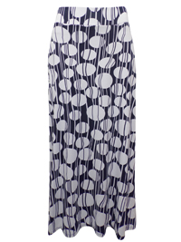 NAVY Pull On Circle Print Long Skirt - Size 12 to 18