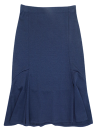 Beales NAVY Pull On Kick Flare Skirt - Size 10 to 16