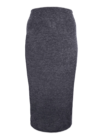 Curve CHARCOAL Marl Long Skirt - Plus Size 18 to 30/32