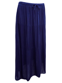 NAVY Crinkle Maxi Skirt - Size 8 to 16