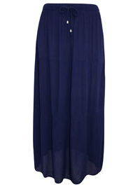 NAVY Tie Front Crinkle Maxi Skirt - Size 8 to 24