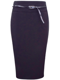 Long Tall Sally BLACK Pencil Skirt With Belt - Size 8 to 22