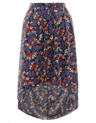 M0nsoon Fusion BLACK Tigermoth Printed Hi Lo Skirt - Size 8 to 14