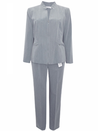 Karida GREY Pinstripe Jacket & Trouser Suit - Size 12 to 28