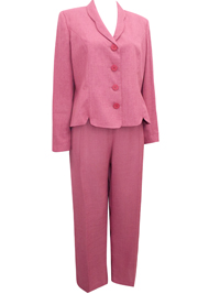 First Avenue ROSE Single Breasted Jacket & Trouser Suit - Plus Size 16 to 20