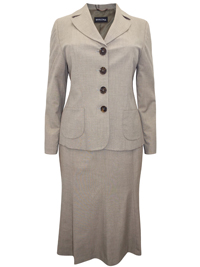 Marcona TAUPE Single Breasted Jacket & Skirt Suit - Size 12 to 26