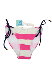 M0NS00N Accessor1ze PINK Striped Tie Side Hipster Bikini Bottoms - Size 10 to 18