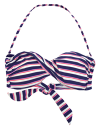 M0NS00N Accessor1ze BLUE Nautical Twist Bandeau Bikini Top - Size 8 to 16