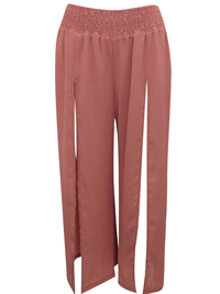 IRREGULAR - AS0S SALMON Smocked Extreme Split Trousers - Size 2 to 14
