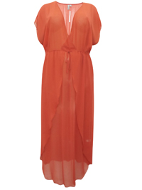 IRREGULAR - AS0S TERRACOTTA Tie Waist Maxi Cover-Up - Size 18 to 24