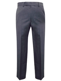 M&5 GREY Pure Wool Flat Front Tweed Trousers - Waist Size 32 to 44 (Length 29in-31in-33in)