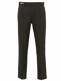 M&5 Mens GREEN Supercrease Active Waist Trousers with Wool - Waist Size 30 to 32 (Length 29in)