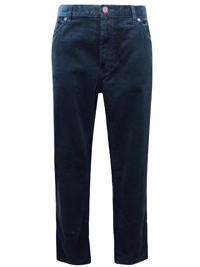 M&5 Mens PETROL Pure Cotton Corduroy Trousers - Waist Size 38 (Length 33in)