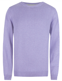 M&5 Mens LILAC Pure Cotton Long Sleeve Jumper - Size Medium to XLarge