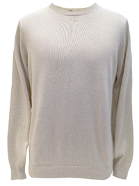 M&5 Mens SAND Pure Cotton Long Sleeve Jumper - Size Medium to XLarge