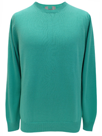 M&5 Mens SPEARMINT Pure Cotton Long Sleeve Jumper - Size Medium to XLarge