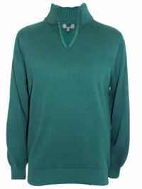 M&5 Mens DARK-GREEN Pure Cotton V-Neck Jumper - Size Small to XXLarge