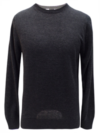 M&5 Mens CHARCOAL Crew Neck Cotton Viscose Jumper - Size Medium to XLarge