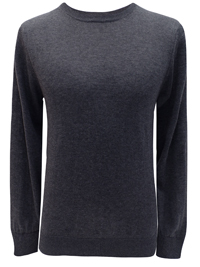 M&5 Mens CHARCOAL Cotton Blend Jumper - Size Medium to XLarge