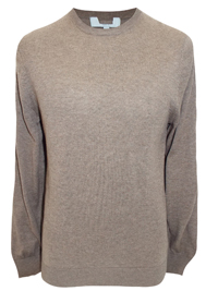 M&5 Mens MOCHA Cotton Blend Jumper - Size Medium to XLarge
