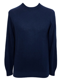 M&5 Mens NAVY Cotton Blend Jumper - Size Small to XLarge