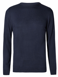 M&5 NAVY Crew Neck Jumper - Size Small to to XXLarge
