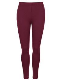 M&5 BURGUNDY Heatgen Thermal Leggings - Size 10 to 12