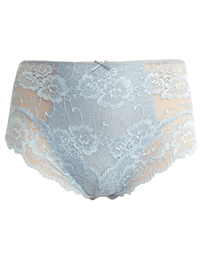 M&5 GREY Light Control All Over Lace Brazilian Knickers - Size 16