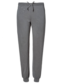 M&5 CHARCOAL Sparkle Cuffed Pyjama Bottoms - Size 8 to 22