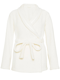 M&5 CREAM Wrap Cardigan Fleece Cosy Dressing Gown - Size 8/10 to 20/22