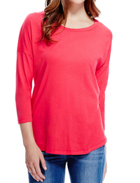 M&5 ROSE 3/4 Sleeve Drop Shoulder Top - Size 8 to 18