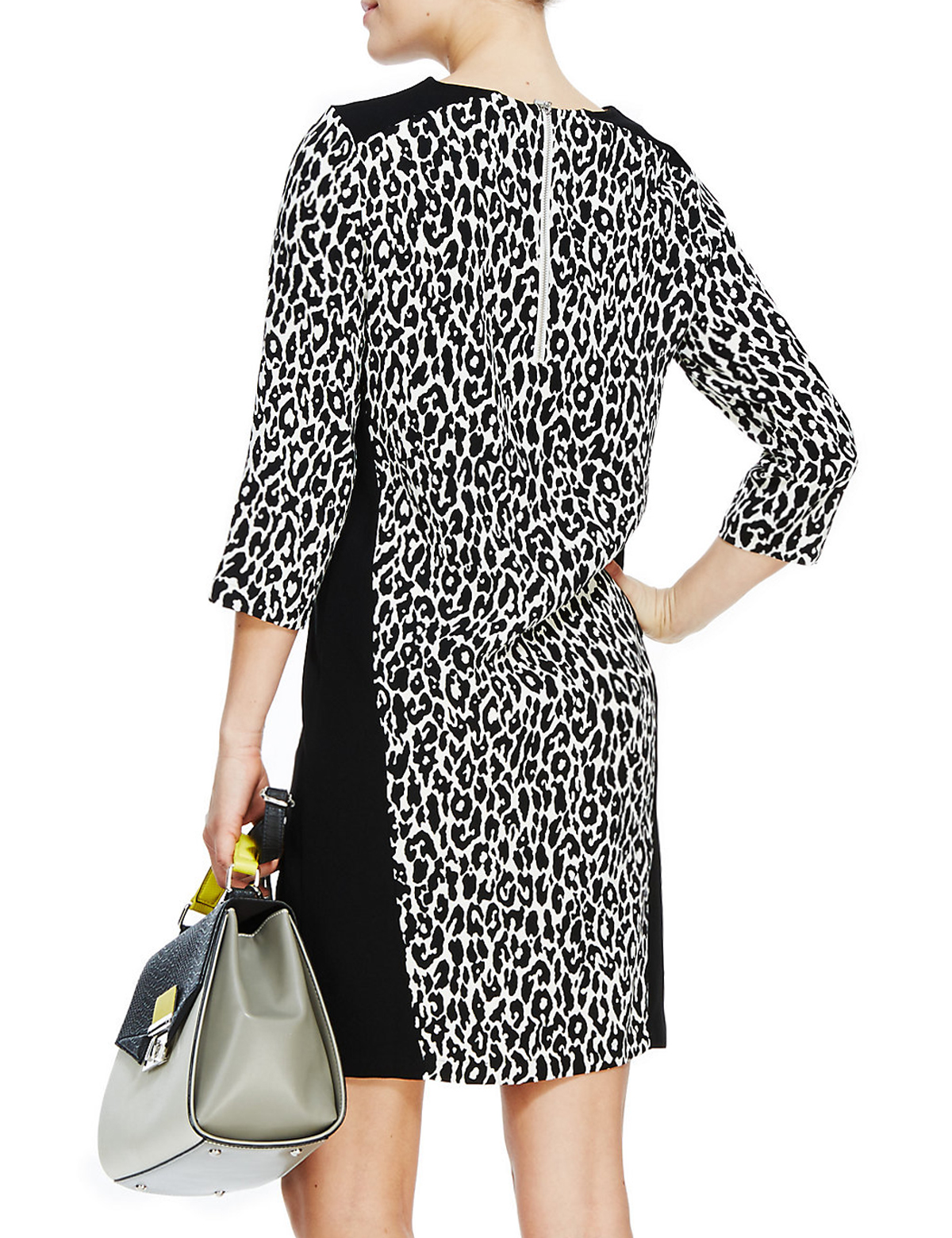 33dc6cbafbe7 Marks and Spencer - - M&5 BLACKMIX Leopard Print Insert Panelled ...