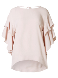 M&5 PALE-PINK Flamenco Sleeve Shell Top - Size 6 to 24