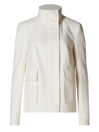 M&5 WINTER-WHITE Funnel Neck Jacket - Size 8 to 22