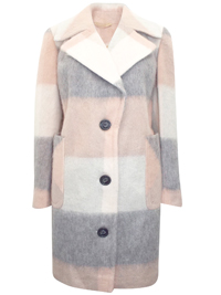M&5 GREY Single Breasted Midi Coat - Size 8 to 18