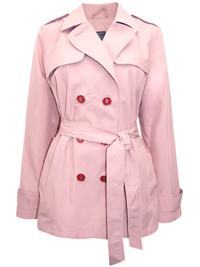 M&5 BLUSH Belted Trench Coat with Stormwear - Size 6 to 22