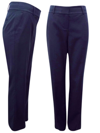 4utograph NAVY Flat Front Bootleg Trousers with Wool - Size 10 to 18